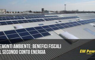 Tremonti ambiente benefici fiscali sul Secondo Conto Energia