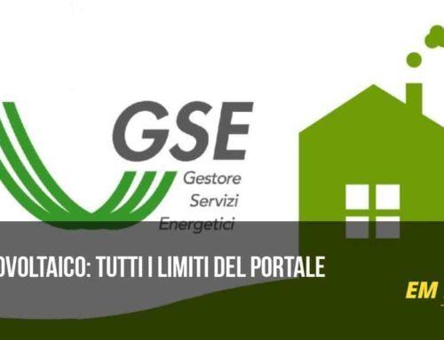 GSE fotovoltaico: tutti i limiti del portale
