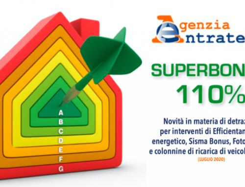 Superbonus 110, linee guida Agenzia delle Entrate